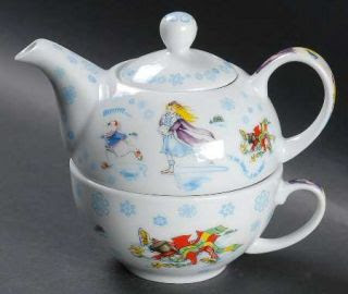 Cardew Design Alice In Winterland Individual Teapot Lid With Cup