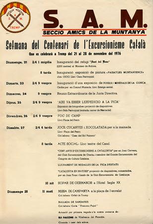 Cartell de la S.A.M de Tremp, l'any 1976.