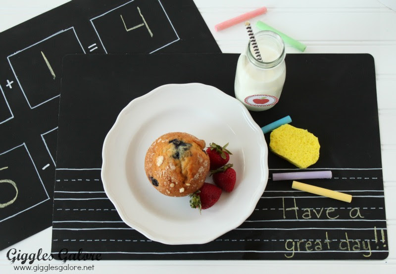 Back to School Chalkboard Placemats