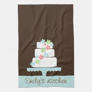 Sweet Cake Kitchen Towel kitchentowel