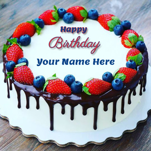 Birthday Cake With Name And Pic