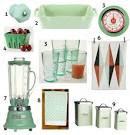 mint green accessories for a retro kitchen - home design laboratory