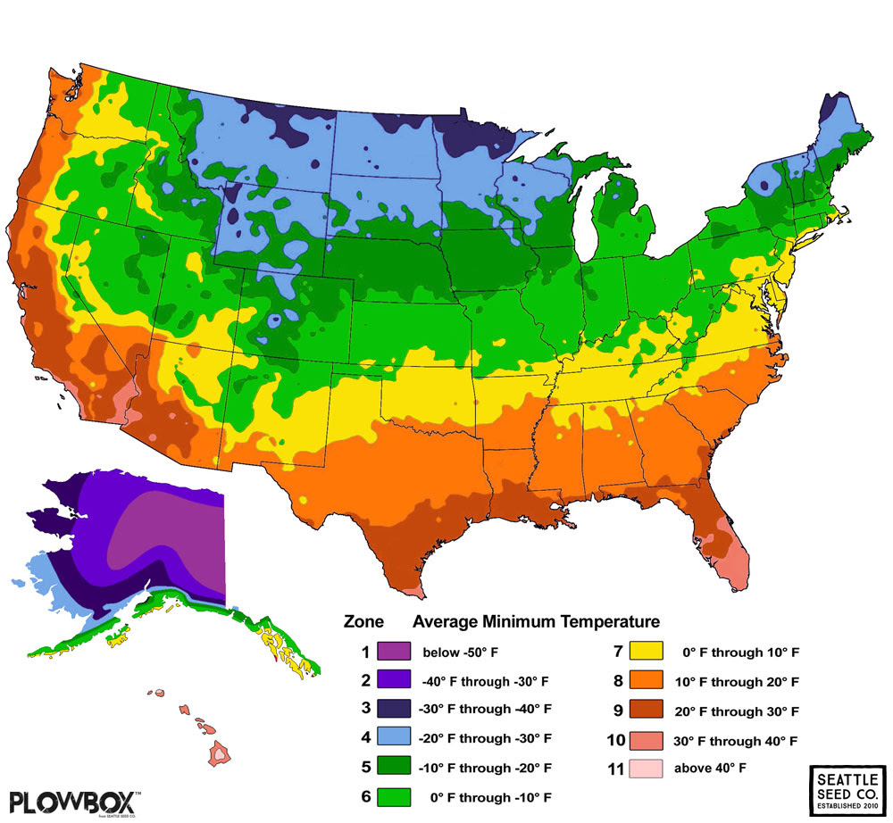 Us Hardiness Zones Map 2018 Us Planting Zone Map