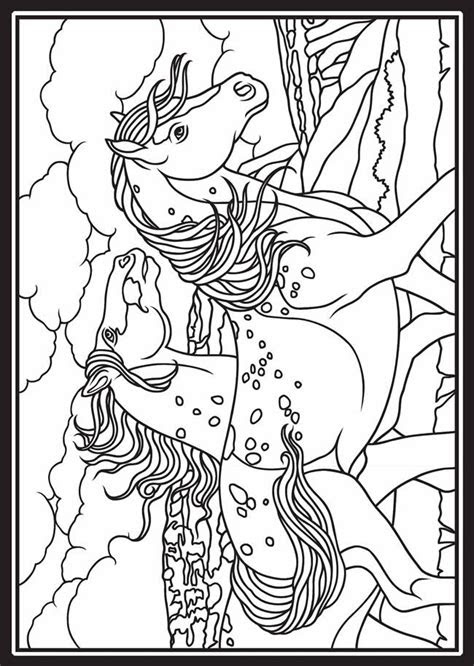wild horses stained glass coloring book horse coloring