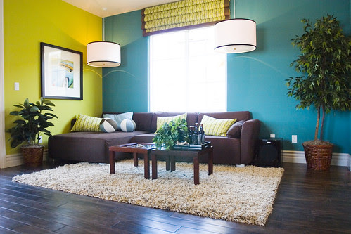 Colorful Modern casual living room