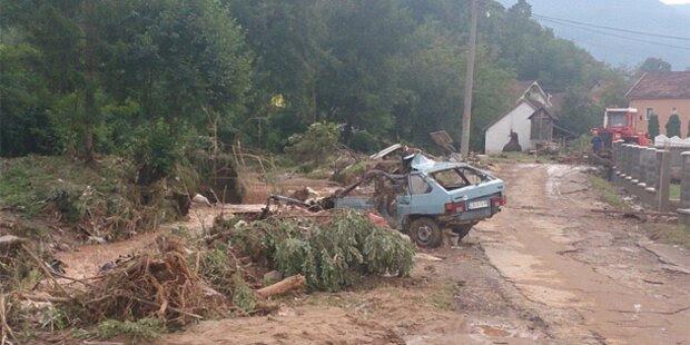Hochwasser-Alarm  in Serbien und Bosnien