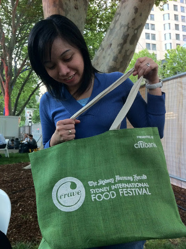 re-usable bags given at the Night Noodle Festival