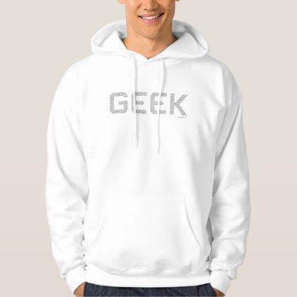 Geek binary code computer freaks cool programmer hoodie