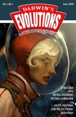 Cover image of online speculative fiction magazine Darwins Evolutions, June 2008