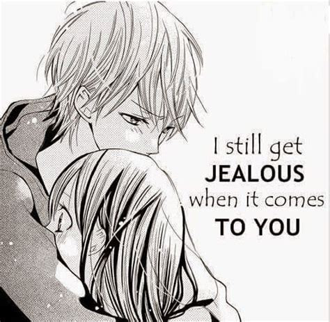 anime boyfriend couple jealous love manga sweet