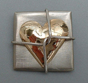 Heart pin by Bennett Graham. I am the designer...