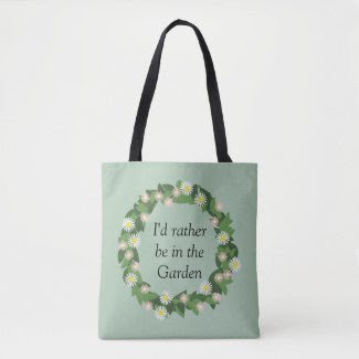 Monogram Green Garden Wreath Print All Over Bag