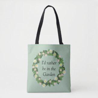 Monogram Green Garden Wreath Print All Over Bag