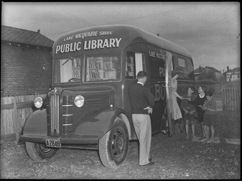 Lake Macquarie Shire mobile library, 20 October 1950, by Sam Hood
