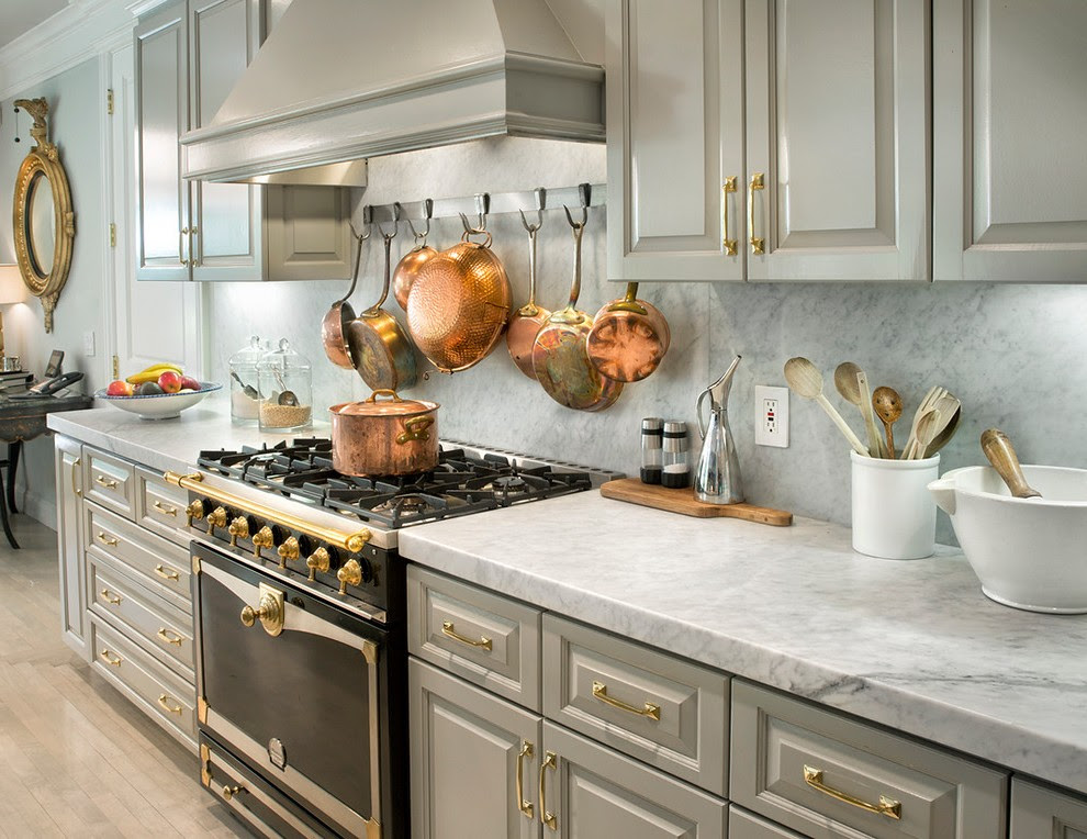 Industrial Cabinet Hardware Kitchen Contemporary with ...