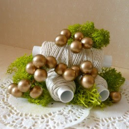 Kule perłowe 10 mm złote 10 szt.