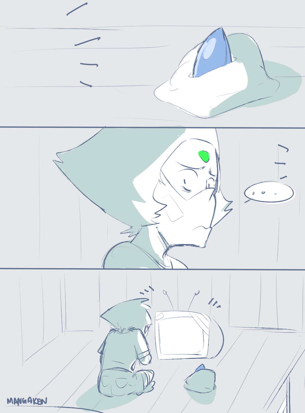 Lapis: What do you normally do when I'm gone? Peridot: Wait for you to get back..