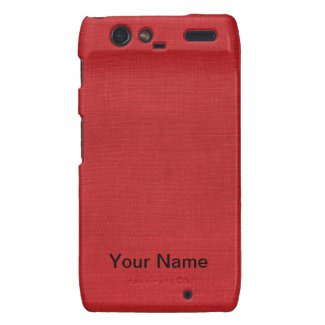 Red Linen Fabric Texture Droid RAZR Covers