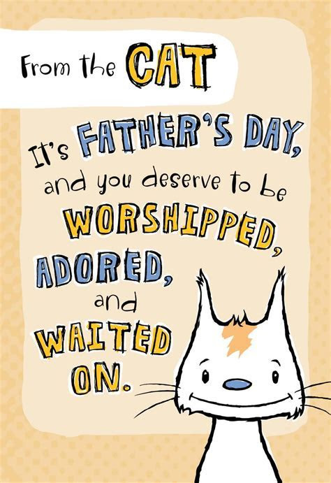 Being Me Father's Day Card From the Cat   Greeting Cards