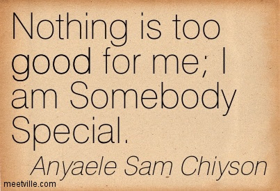 Nothing Is Too Good For Me I Am Somebody Special Quotespicturescom