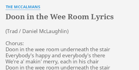 Doon In The Wee Room Underneath The Stairs Lyrics