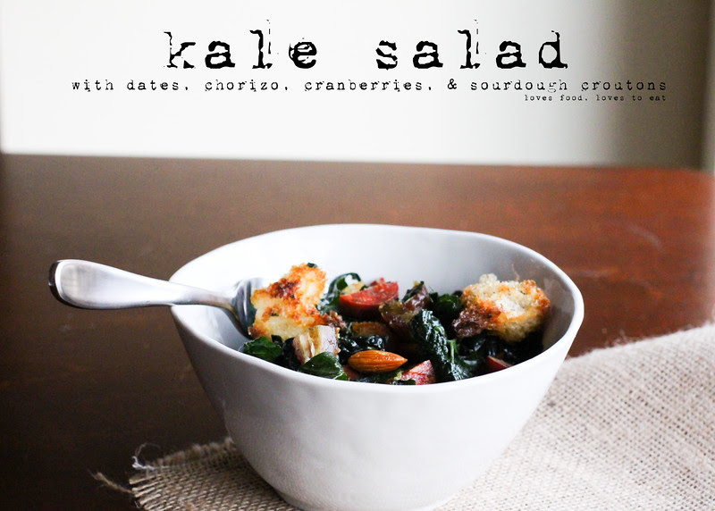 Date & Chorizo Kale Salad // Loves Food, Loves to Eat