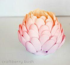 DIY Spoon Flower Vase or Sculpture Tutorial by Craftberry Bush