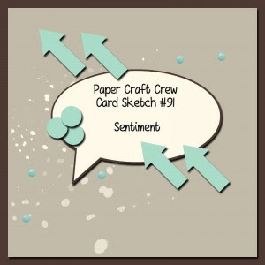 Paper Craft Crew Card Sketch #91