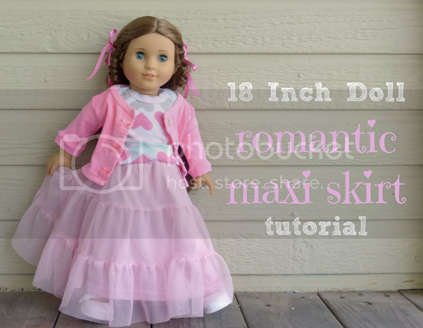 18 inch american girl doll maxi skirt sewing tutorial