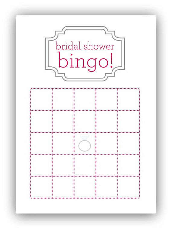 Bridal Shower Bingo Card by gracefully made designs on Etsy ...