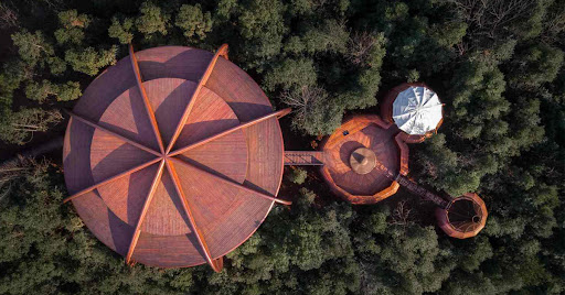 Avatar of atelier design continuum inserts UFO-like tree house into chinese forest