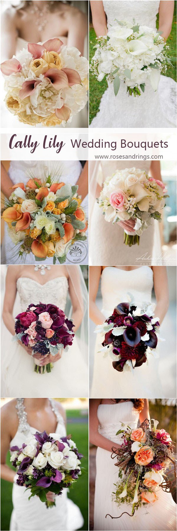 18 Most Beautiful Calla Lily Wedding Bouquets Roses Rings