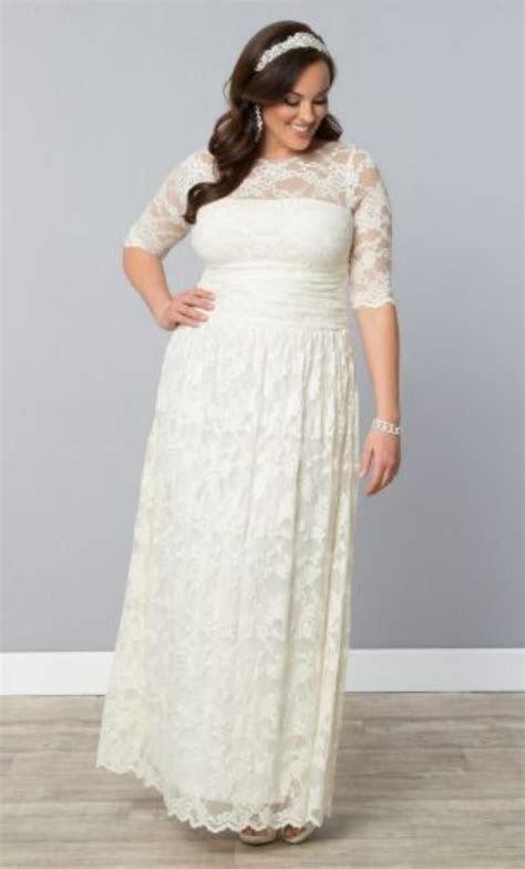 Ankle Length Wedding Dress Plus Size 2015 Romantic Lace A