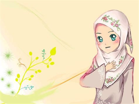 gambar kartun muslimah cantik berhijab animasi bergerak