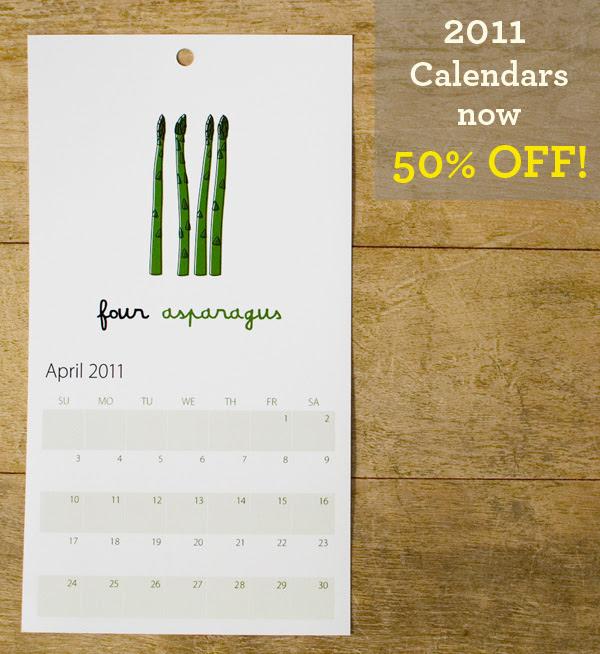 SALE - 50% OFF 2011 Calendar