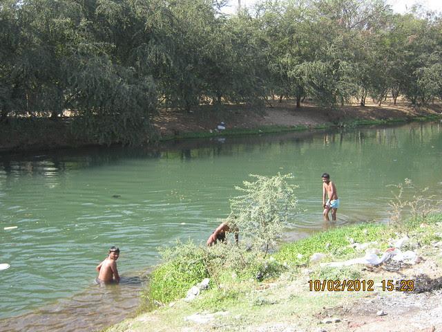 Swimming in the canal -  Visit Kumar Properties' Kumar Purab, 2 BHK & 3 BHK Flats, off Pune Solapur Road, behind Diamond Cars, Hadapsar, Pune 411 028