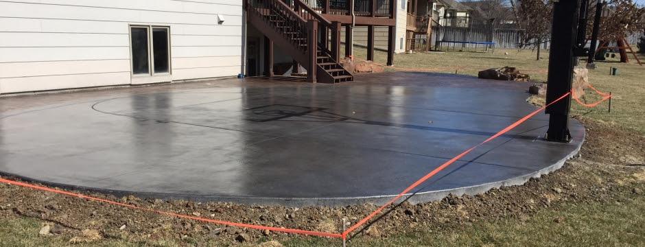 Concrete Basketball Courts E J Concrete And Dirt Work