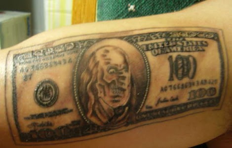 Hundred Dollar Bill Tattoos Designs Tattoos Designs Ideas
