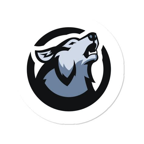 viss wolf pack logo stickers sticker  tsmviss design
