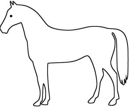 Pferd Hannoveraner Malvorlage