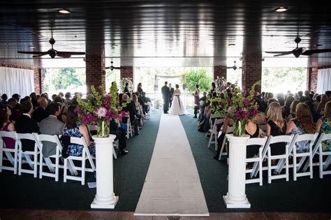 Ceremony on the open air Veranda! Harbour View Woodbridge