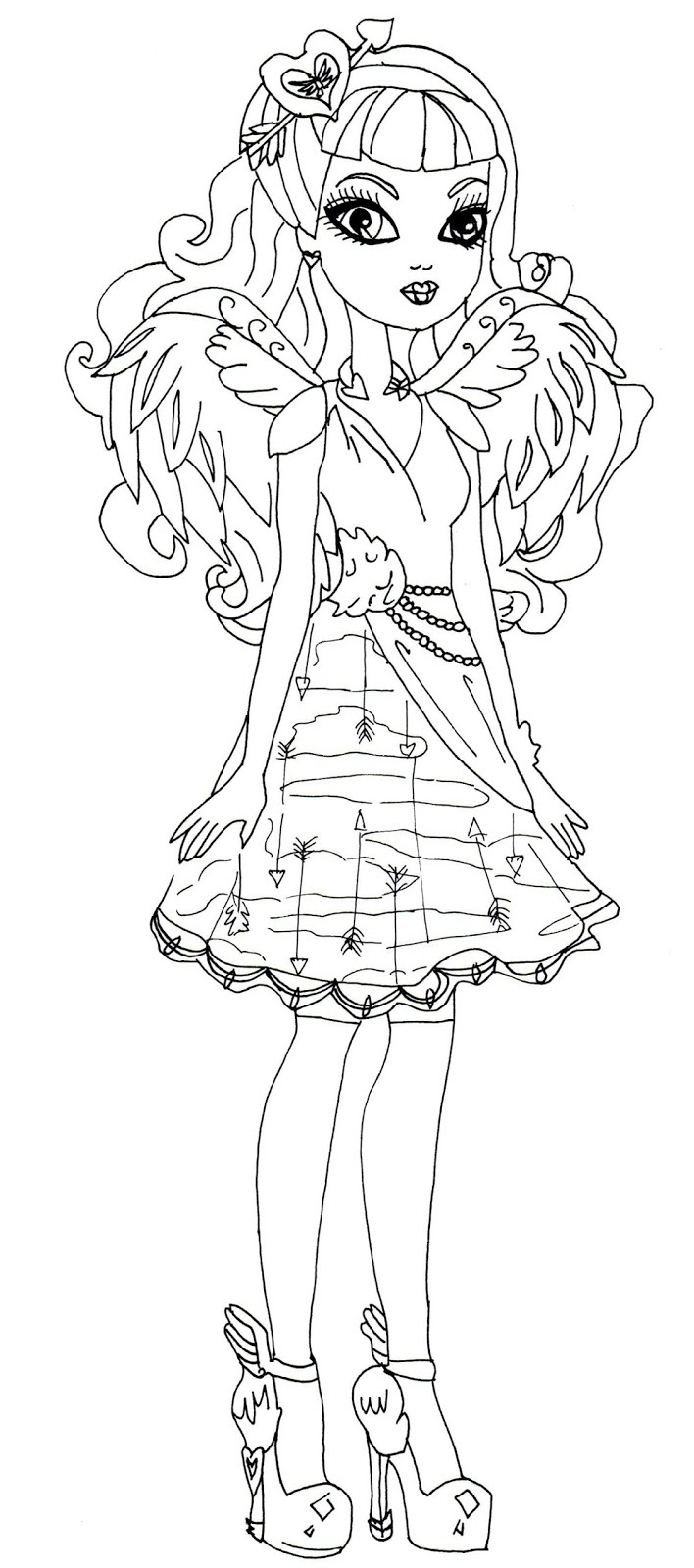 Free Ever After High Coloring Pages Elitflat