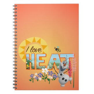 Olaf I Love the Heat Spiral Note Books