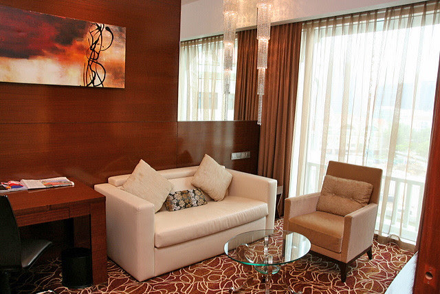 The living area of the Executive Suite