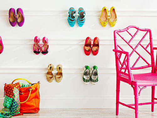 DIY Interior Design Ideas for the Home - DIY Crown Molding Shoe Rack| Live Love in the Home