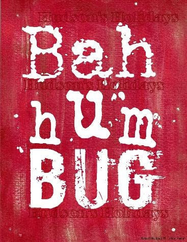 Bah hum bug  Scrooge sign digital   - Christmas uprint NEW 2011 art words vintage style primitive paper old pdf 8 x 10 frame saying