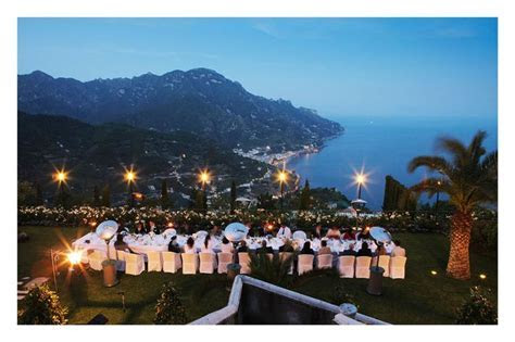 Hotel Caruso in Ravello, Salerno, Italy.   Winter Wedding
