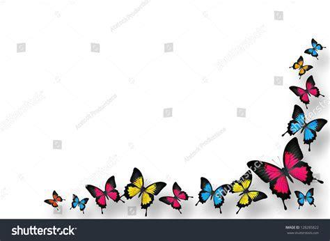 Colorful Butterflies Border Design Stock Photo 128285822