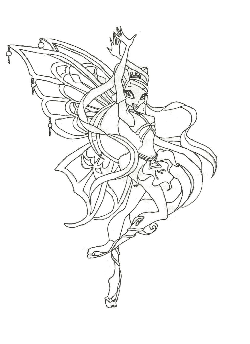 82 Easy Winx Club Coloring Games Enchantix Printable Pdf