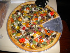 Gluten-Free Pizza with garden fresh veggies